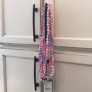 Lilly Pulitzer fabric necklace.